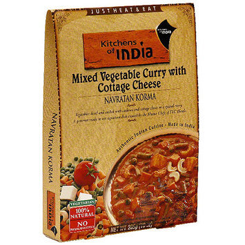 Kitchens Of India Navratan Korma Mixed Vegetable Curry With Cottage Cheese, 10 oz (Pack of 6)