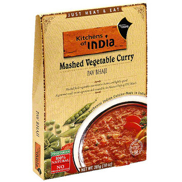 Kitchens Of India Pav Bhaji Mashed Vegetable Curry, 10 oz (Pack of 6)