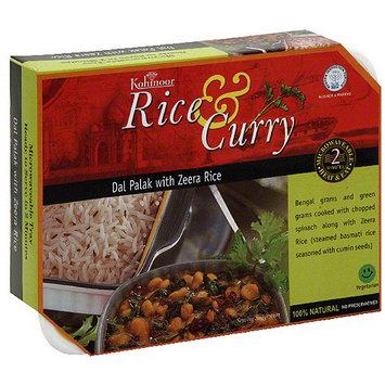 Kohinoor Dal Palak With Zeera Rice & Curry, 12.3 oz (Pack of 6)