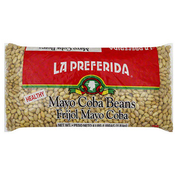 La Preferida Mayo Coba Beans, 4LB (Pack of 6)