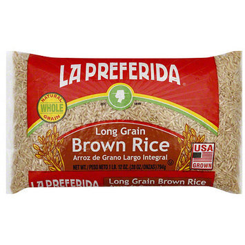 La Preferida Long Grain Brown Rice, 28 oz (Pack of 14)