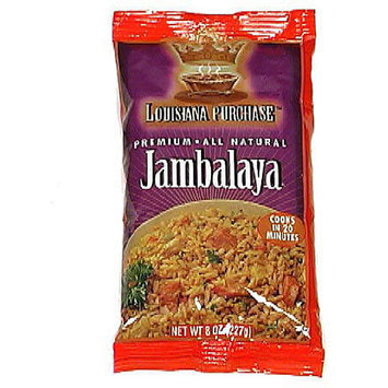 Louisiana Purchase Premium Jambalaya Rice Mix, 8 oz (Pack of 12)