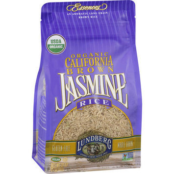 Lundberg Family Farms Brown Jasmine Rice, 32 oz (Pack of 6)