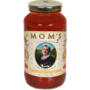 Mom's Fresh Garlic & Basil Pasta Sauce, 24 oz (Pack of 6)