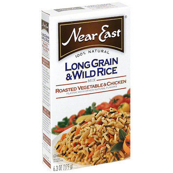Near East Roasted Vegetable & Chicken Long Grain & Wild Rice Mix, 6.3 oz (Pack of 12)
