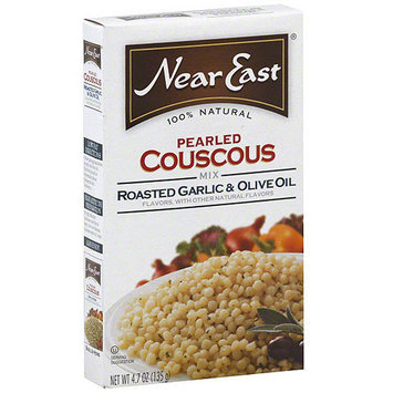Near East Roasted Garlic Olive Oil Pearled Couscous, 4.7 oz (Pack of 12)