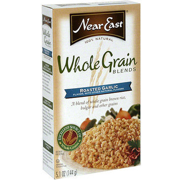 Near East Roasted Garlic Whole Grain Blends, 5.1 oz (Pack of 12)