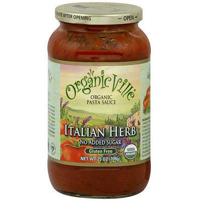 Organicville Italian Herb Organic Pasta Sauce, 25 oz (Pack of 6)