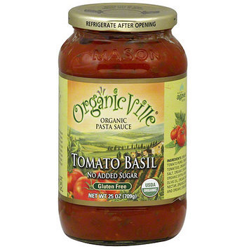 Organicville Tomato Basil Organic Pasta Sauce, 24 oz (Pack of 6)