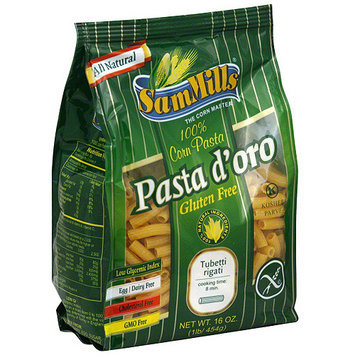 Pasta D Oro Sam Mills Corn Pasta, 16 oz (Pack of 6)