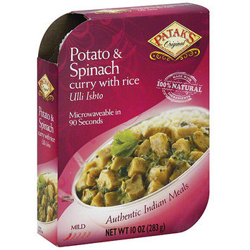 Patak's Potato & Spinach Curry, 10 oz (Pack of 8)