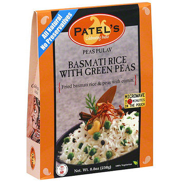 Patel's Green Pea Cumin Basmati Rice, 9.9 oz (Pack of 10)