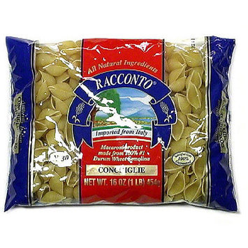 Racconto Conchiglie Pasta, 16 oz (Pack of 20)