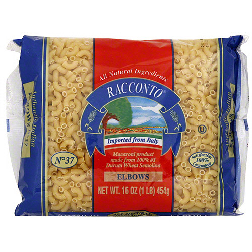 Racconto Elbows Pasta, 16 oz (Pack of 20)