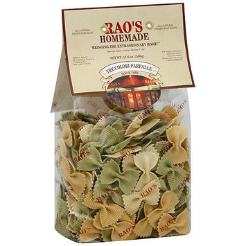 Rao's Homemade Tre-Colori Farfalle, 17.6 oz (Pack of 12)