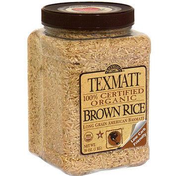 Rice Select Texmati Organic Brown Rice, 32 oz (Pack of 4)