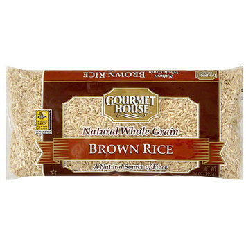 Gourmet House Brown Rice, 14 oz (Pack of 12)