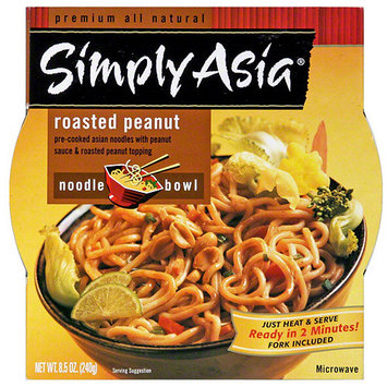 Simply Asia Roasted Peanut Noodle Bowl, 8.5 oz (Pack of 6)