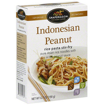 Snapdragon Stir Fry Indonesian Peanut Rice Pasta, 7 oz (Pack of 6)
