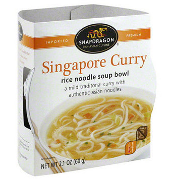Snapdragon Singapore Curry Rice Noodle Soup Bowl, 2.1 oz (Pack of 6)