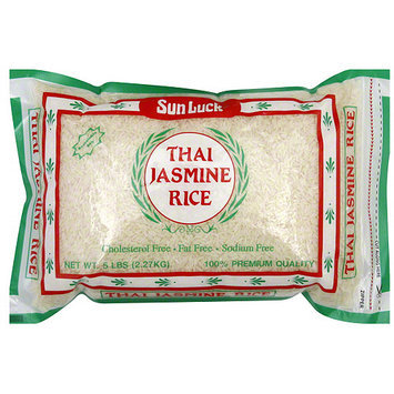 Sun Luck Thai Jasmine Rice, 5 lb (Pack of 6)