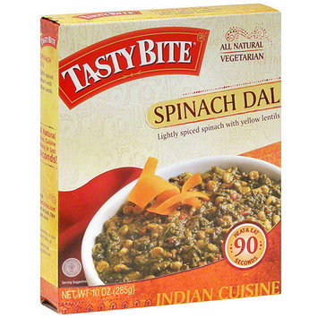 Tasty Bite Lightly Spiced Spinach Dal With Yellow Lentils, 10 oz (Pack of 6)