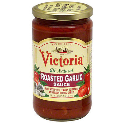 Victoria All Natural Roasted Garlic Sauce, 25 oz (Pack of 6)