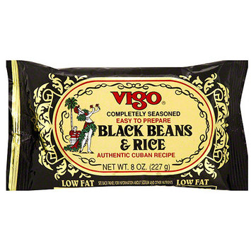 Vigo Completely Seasoned Black Rice & Beans, 8 oz (Pack of 12)