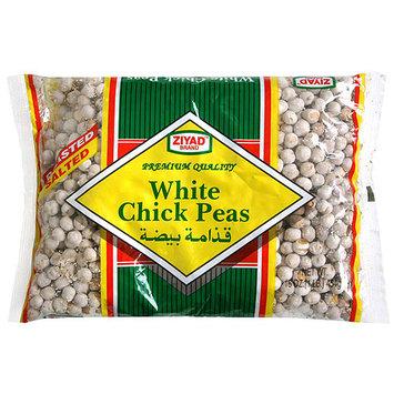 Ziyad White Roasted Chick Peas, 12 oz (Pack of 6)