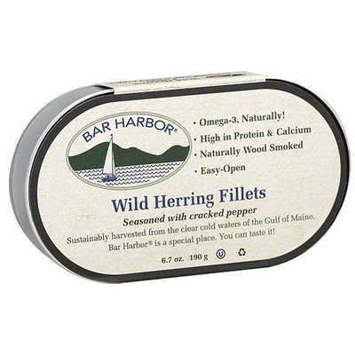 Bar Harbor Cracked Pepper Herring, 6.7 oz (Pack of 12)