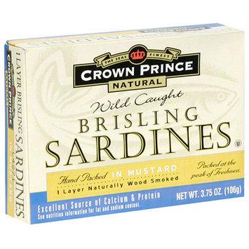 Crown Prince Brisling Sardines In Mustard, 3.75 oz (Pack of 12)