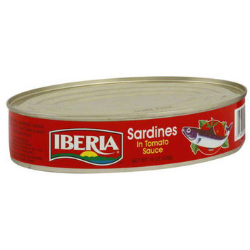 Iberia Oval Sardines In Tomato Sauce, 15 oz. (Pack of 24)