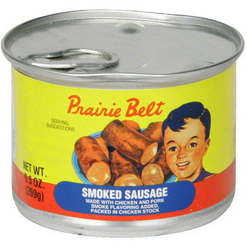 Prairie Belt Smoked Sausage, 9.5 oz (Pack of 12)