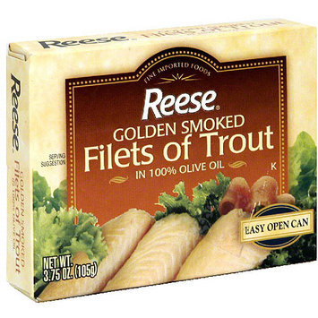 Reese Golden Smoked Trout Fillets, 3.75 oz (Pack of 10)