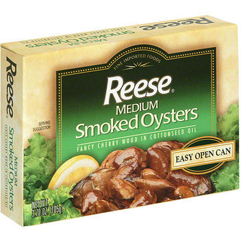 Reese Medium Smoked Oysters, 3.70 oz (Pack of 10)