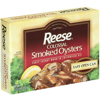Reese Colossal Smoked Oysters, 3.70 oz (Pack of 10)