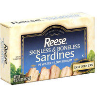 Reese Skinless Boneless Sardines With Water, 4.375 oz (Pack of 10)