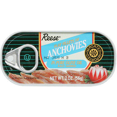 Reese Flat Fillets Anchovies, 2 oz (Pack of 10)