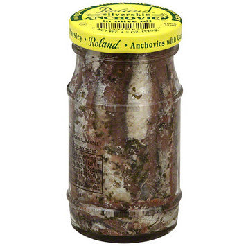 Roland Silverskin Anchovies In Olive Oil, 4.2 oz (Pack of 12)