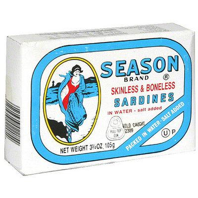 Seasons Season Skinless & Boneless Sardines, 3.75 oz (Pack of 12)