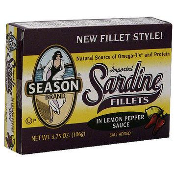 Seasons Season Sardine Fillets In Lemon Pepper Sauce, 3.75 oz (Pack of 12)