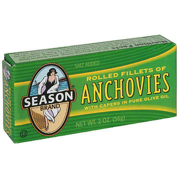 Seasons Season Rolled Anchovies With Capers In Olive Oil, 2 oz (Pack of 25)