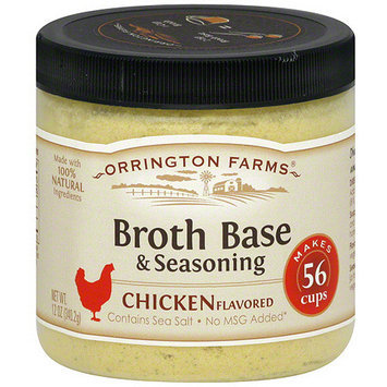 Orrington Farms Chicken Flavored Broth Base & Seasoning, 12 oz (Pack of 6)