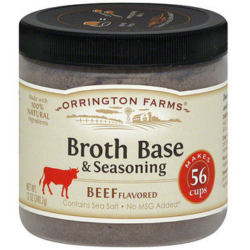 Orrington Farms Beef Flavored Broth Base & Seasoning, 12 oz (Pack of 6)