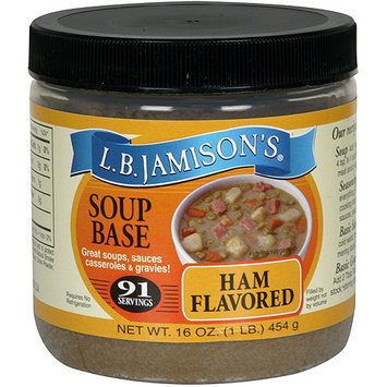 Lb Jamison L.B. Jamison's Ham Flavored Soup Base, 16 oz (Pack of 6)