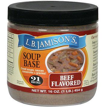 Lb Jamison L.B. Jamison's Beef Flavored Soup Base, 16 oz (Pack of 6)