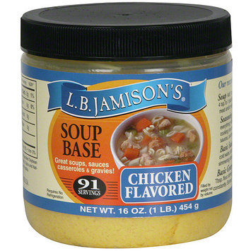 Lb Jamison L.B. Jamison's Chicken Flavored Soup Base, 16 oz (Pack of 6)