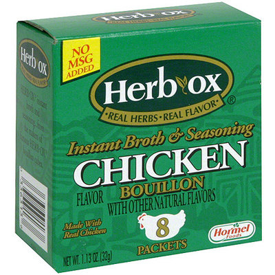 Herb-Ox Instant Chicken Bouillon Broth & Seasoning, 1.13 oz (Pack of 12)