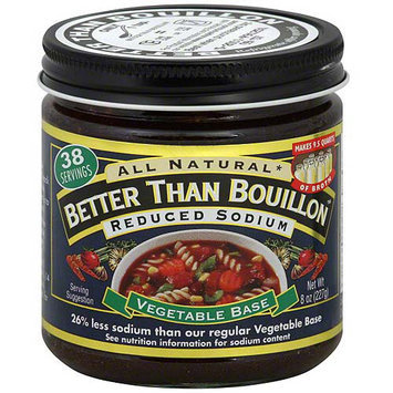 Superior Touch Better Than Bouillon Reduced Sodium Vegetable Soup Base, 8 oz (Pack of 6)
