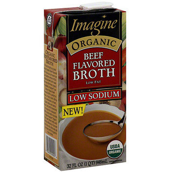 Imagine Foods Organic Low Sodium Beef Broth, 32 oz (Pack of 12)